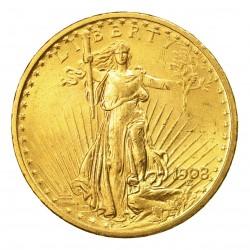Pièce-investissement-Or-20-Dollars-US