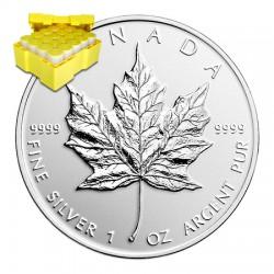 Boite-500-pièce-moderne-Maple-Leaf-1-once-Argent