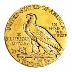 Pièce-investissement-Or-5-Dollars-US