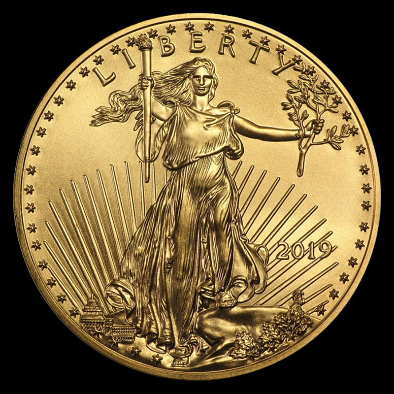 Pièce-Moderne-American-Eagle-1-once-Or