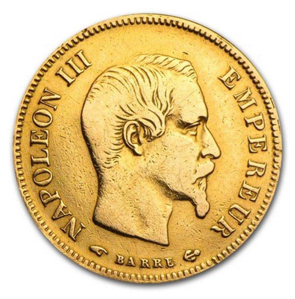 Pièce-10-Franc-Napoléon-Or-Avers
