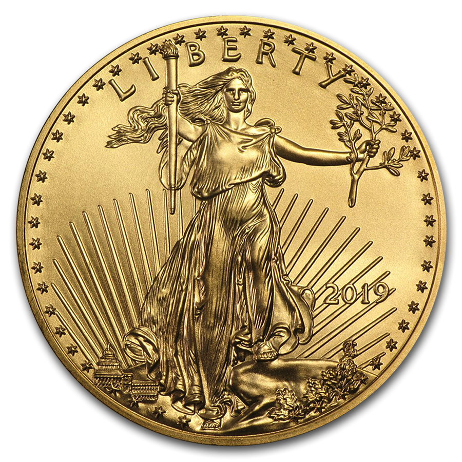 Pièce-American-Eagle-1-once-Or-Revers